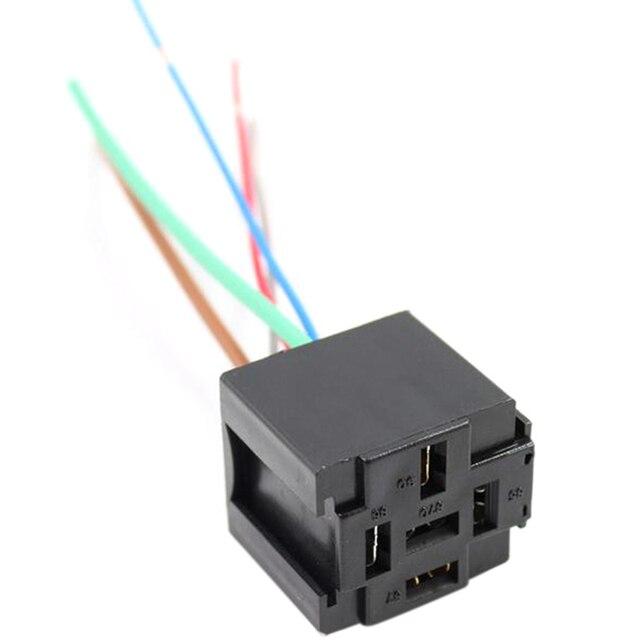 2pcs universal 5 pin dc 12v automotive car wiring connector relay socket  for car truck auto suitable passat b6 b5 golf 4