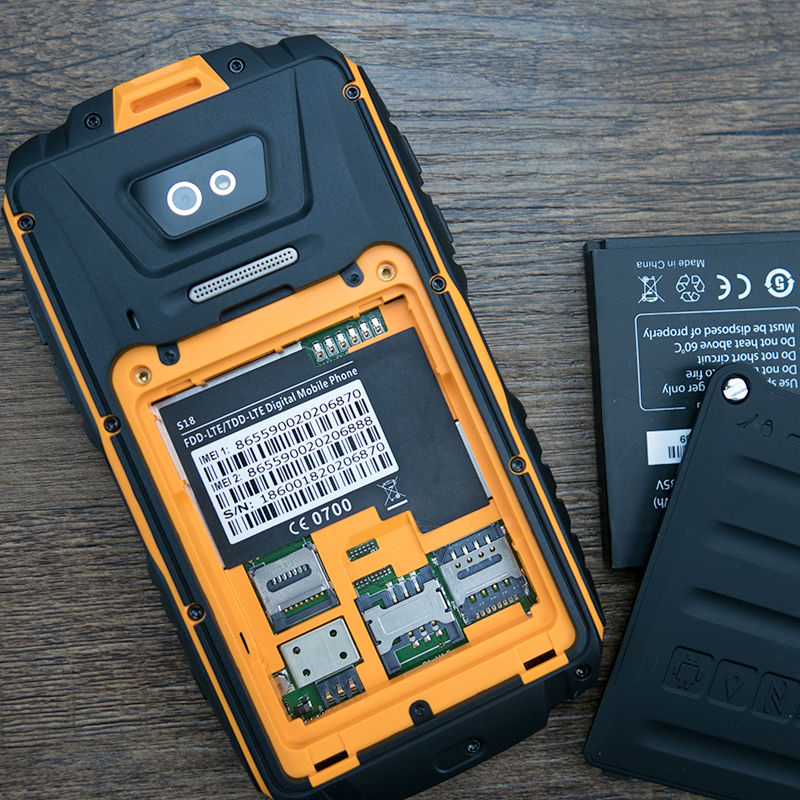 Original Ranger fone S18 impermeable a prueba de golpes a prueba teléfono robusto Android Smartphone MTK6735 Quad Core 4,5 2 GB RAM min 4G LTE GPS - 3