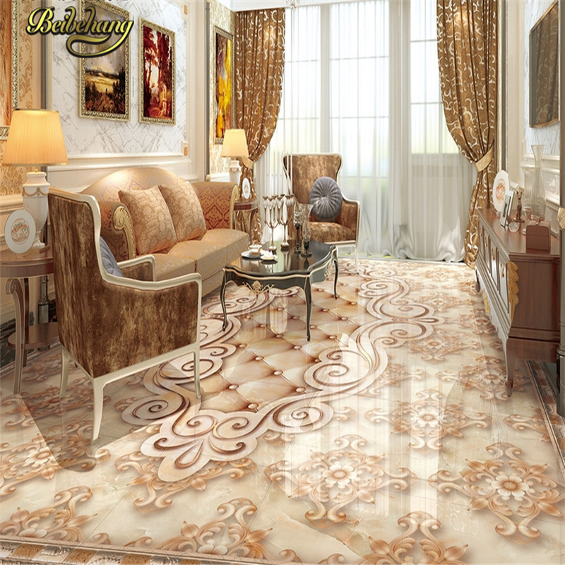 beibehang Custom marble papel de parede 3D floor tiles Wall paper Painting Livingroom Bathroom Self-adhesive Wallpaper Murals wall sticker customized 3d floor tiles for livingroom welcome song marble stone relief floor wallpaper