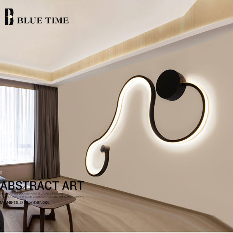 Wandlamp LED Lustre Simple Modern Wall Light For Bedroom Living room Bathroom Lamp Indoor Sconce Wall Lamp Black&White Lamp body