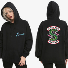 Riverdale South Side Serpents Hoodie Sweatshirts SouthSide Funny Cartoon Print Women/Ms Hooded PulloverTracksuit female