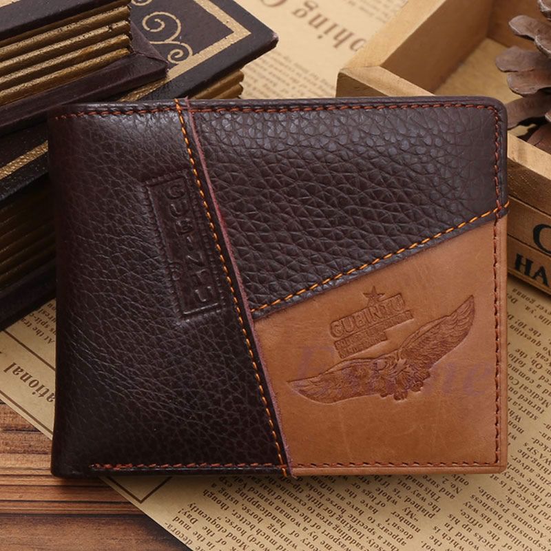 THINKTHENDO Men Bifold Trifold Leather Wallet ID Credit Card Holder Slim Billfold Coin Purse vintage bifold wallet men handbags purse coin money bag male leather credit id card holder billfold purse mini wallet hot sale