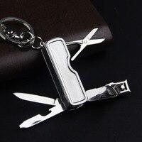 Hoge Kwaliteit Creative Design Luxe Sleutelhanger Voor Vrouwen Man Nail clippers Auto Sleutelhanger Metalen Ring Giften Sleutel houder