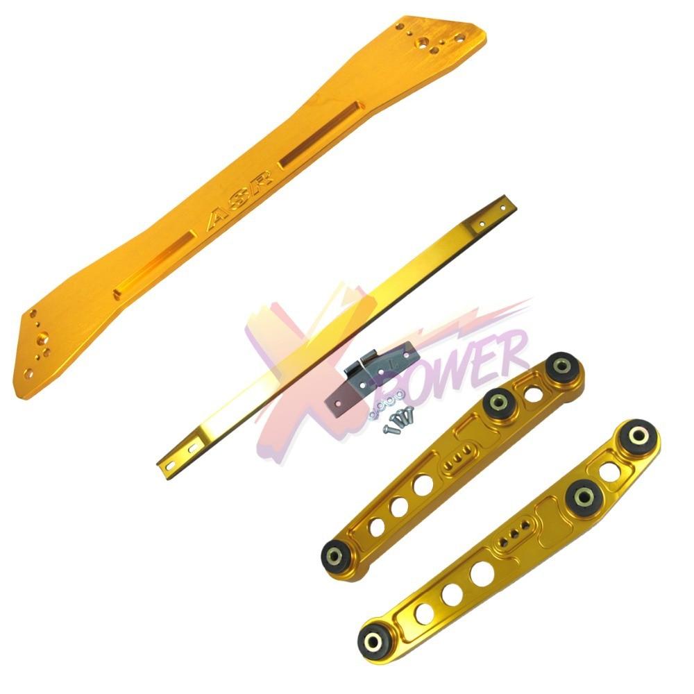 Xpower-Arrière Contrôle Bras Inférieur Subframe Brace Tie Bar Pour Honda Civic 92-95 EG EG6-Red, Bleu, or, Noir, Argent, Violet