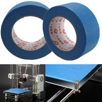 3D Printer Blue Tape 50mm Wide 50m Reprap Bed Tape Painters Masking VEC71 P