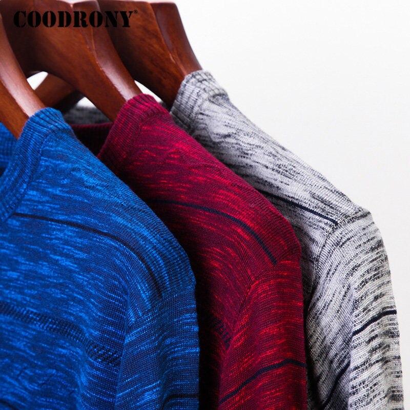 Coodrony marca camisola masculina malhas pull homme