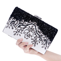 Pu Women Messenger Chain Shoulder Handbags Beaded Handmade Style Metal Diamonds Evening Bags Leather Fashion Purse Bags