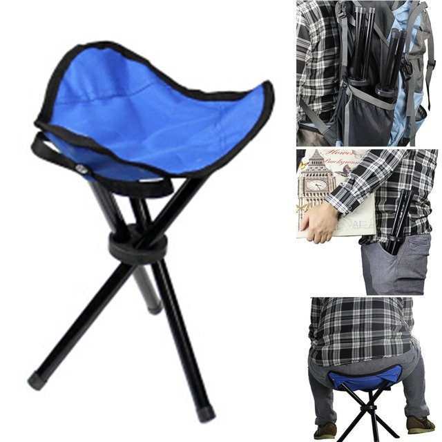 Foldable Fishing Chairs Multi-Function Portable Travel Chair Tri-Leg Stool  for Outdoor Camping d974709573