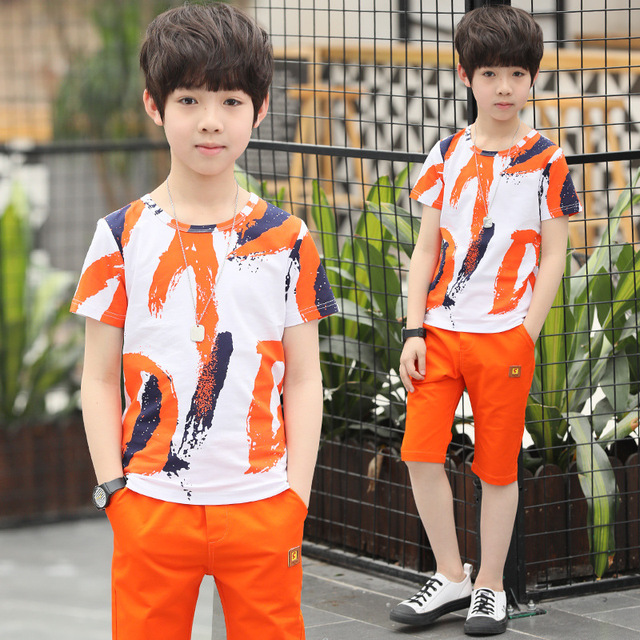 Children Boys Clothing Set Kids Clothes Kids Costume Suit Costumes for Boys Casual Wear Shorts for Summer In 100% Cotton