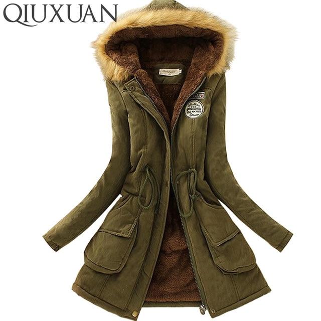 Aliexpress.com : Buy QIUXUAN Women Parka Fashion Autumn Winter ...