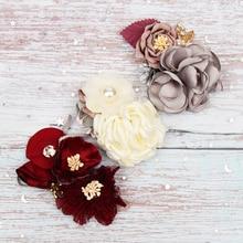 Korean Flower Headband For Girls Rhinestone Crown Hairbands High Quality Women & Girls Hair Accessories Party Handmade Headwear