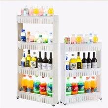 New Ornaments Multipurpose Shelf with Removable Wheels Crack Rack Bathroom Storage Storage Rack Shelf