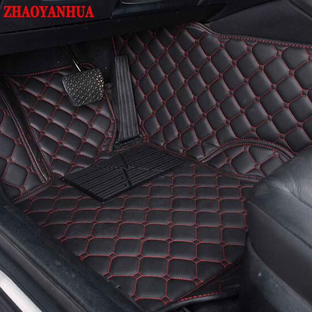 Zhaoyanhua car floor mats for nissan bluebird sunny sentra murano rouge x trail altima versa 6d car styling carpet liners