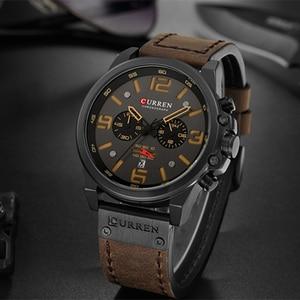 Image 5 - Топ бренд класса люкс CURREN 8314 Модные кварцевые мужские часы с кожаным ремешком повседневные деловые мужские наручные часы Montre Homme