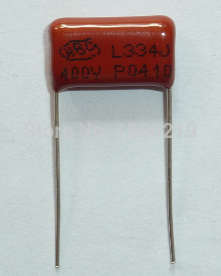 100pcs CBB Capacitor 334 400V 334J 0.33uF 330nF P15 CL21 Metallized Polypropylene Film Capacitor