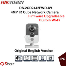 Hikvision Original English Version DS-2CD2442FWD-IW 4MP Wireless IP Camera Built-in Microphone WDR 3D DNR&BLC CCTV Camera