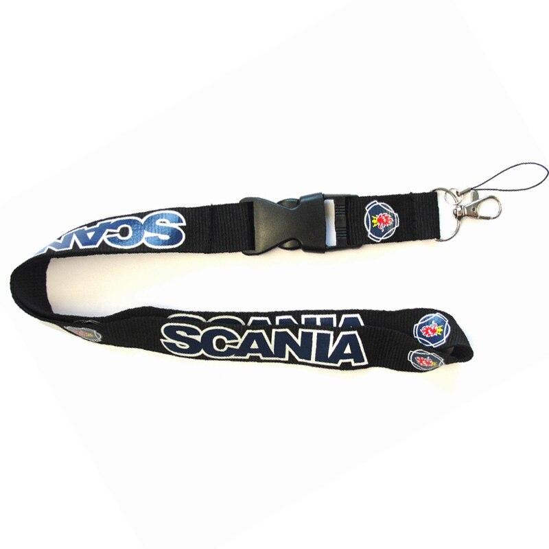 Men Fashion Lanyards For SCANIA Logo Lanyard Keys Mobile Phone MP3 Flash Drives Keychains ID Badge Holder Hanging Rope Lanyard