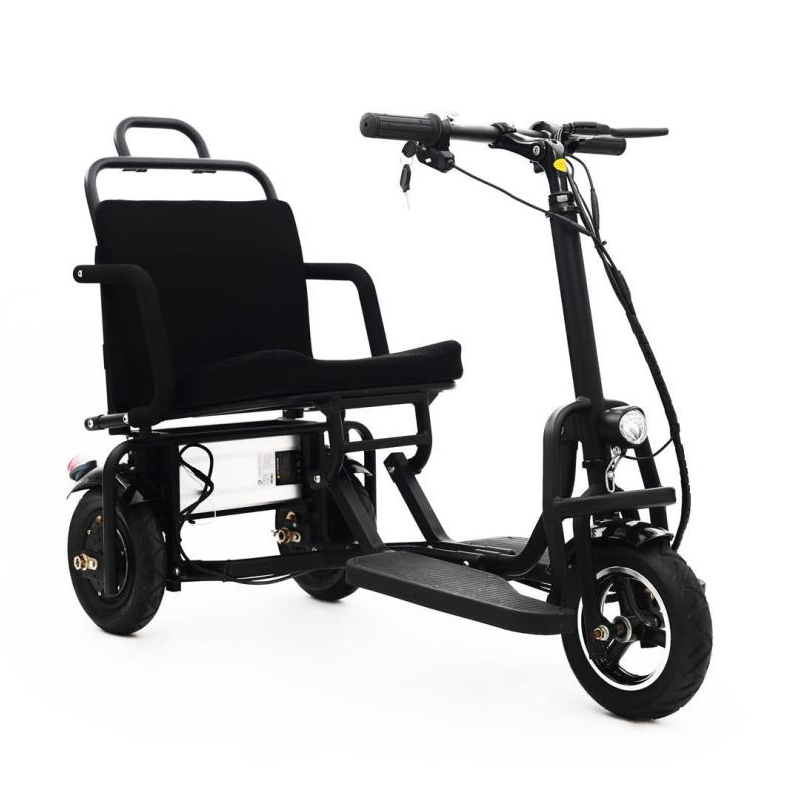 Aluminum alloy folding electric tricycle 8inch and 10inch elderly electric bike can enter the elevator folding electric bicyclAluminum alloy folding electric tricycle 8inch and 10inch elderly electric bike can enter the elevator folding electric bicycl