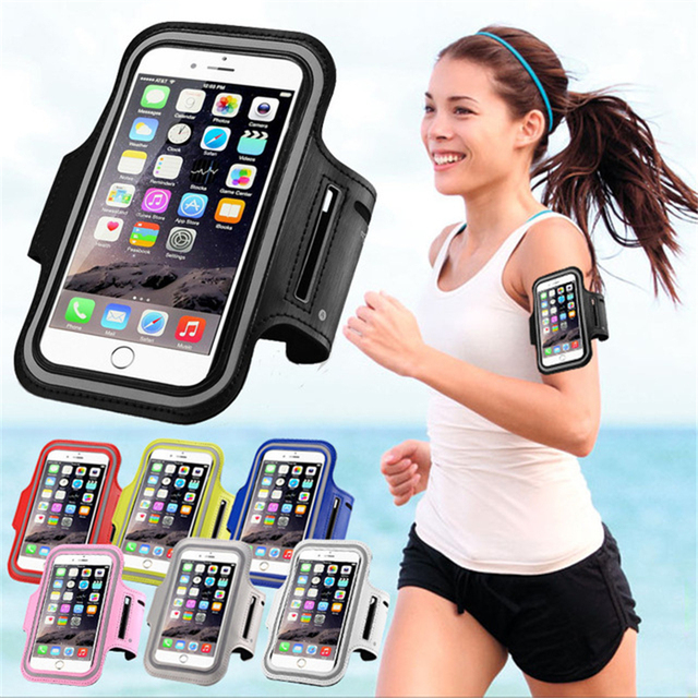 Waterproof PU Sports Running Arm Band Phone Case Holder Pouch For iPhone X 8 7 6 6S Plus SE 5 5C 5S 4 4S Workout Gym Cover Bag