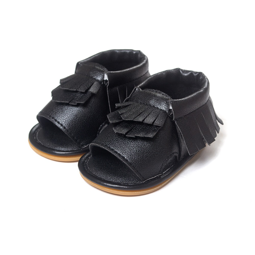 brand pu leather tassel baby moccasins for boys girls baby shoes for walk birthday indoor shoes hard rubber bottom first walker