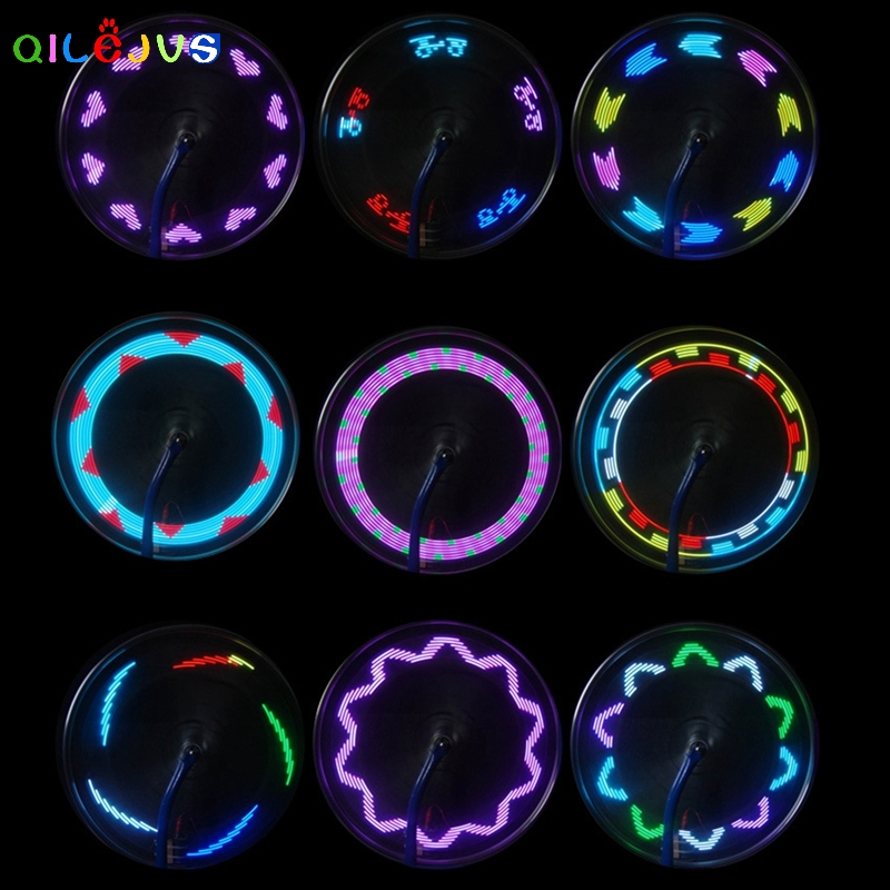 14 LED Motorcycle Bicycle Bike Cycling Wheel Signal Tire Spoke Light 30 Changes