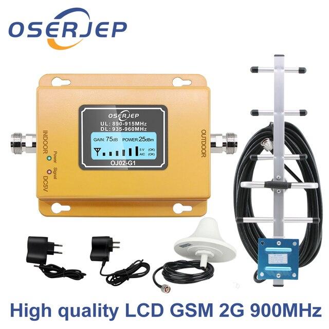 תצוגת LCD GSM 900Mhz UMTS 2G/3Gcelular טלפון נייד אות מאיץ מהדר, 900MHz מגבר + יאגי/תקרה