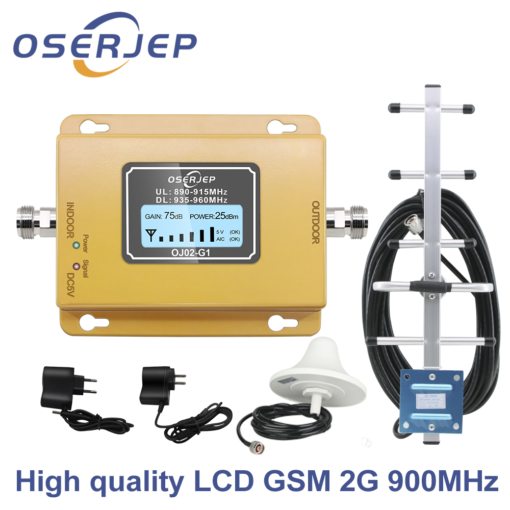 LCD display GSM 900Mhz UMTS 2G/3Gcelular MOBILE PHONE Signal  Repeater booster,900MHz amplifier   Yagi /Ceiling AntennaSignal  Boosters