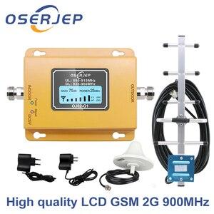 Image 1 - 液晶ディスプレイの gsm 900Mhz の Umts 2100mhz の 2 グラム/3 Gcelular 携帯電話の信号リピータブースター、 900 アンプ + 八木/天井アンテナ