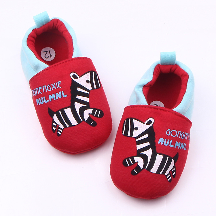 Zebra First Walker Baby Shoes Toddler Newborn Infant Boys Girls Soft Sole Cotton Crib Sh ...