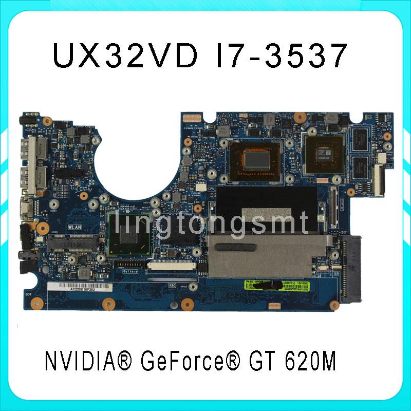 Original ZenBook UX32VD motherboard for Asus UX32VD REV2.4 Mainboard Processor i7-3537 2G Memory on board 100% tested  original notebook motherboard x54c k54c for asus rev 2 1 system pc mainboard with ram on board