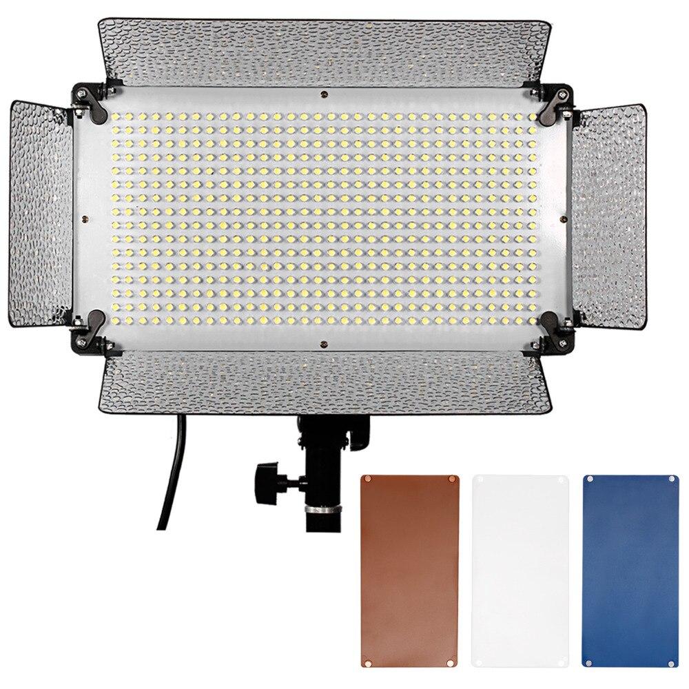 Neewer 500 светодиодный Аксессуары для фотостудий Освещение Панель диффузор 2 Цвет Фильтры (оранжевый и синий) и 4 диммер для Canon Nikon Pentax ...