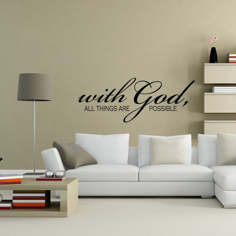 Stickers With God All Things Are Possible Quote Vinyl Wall