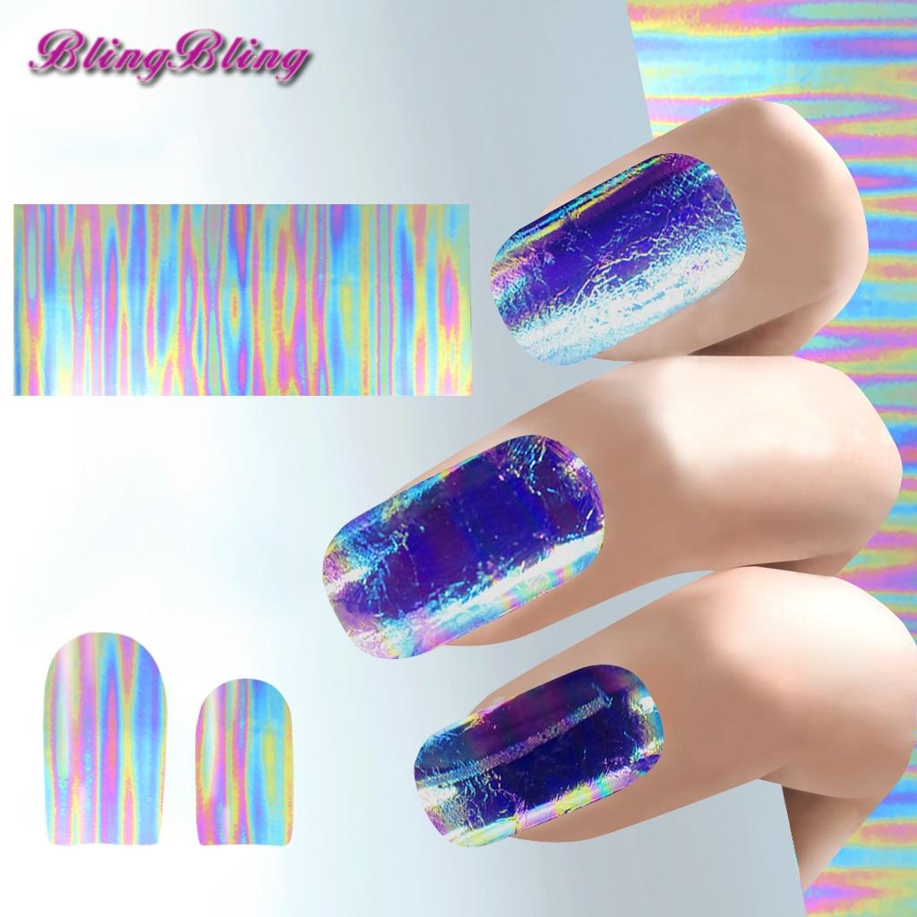 3pcs gradient chrome nails foil