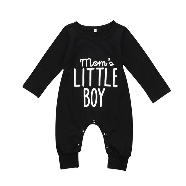 d6a4421f3 New Fashion Toddler Baby Boys Romper Cotton Jumpsuit Black Newborn ...