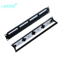 24 Ports CAT6 UTP Keystone Patch Panel 19 inch 1U cat6 Cable Frame Faceplate rj45 patch panel 24port