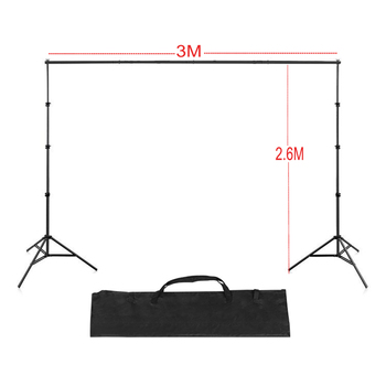 Cadiso 2.6M*3M Photo Background Frame Background Stand photography accessories For Photo Shoot with Carry Bag