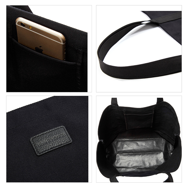 EMINI HOUSE Canvas Tote High Capacity Casual Shopping Bag Women Shoulder Bags Practical Women Handle Bag Fashion Lady Purse Shopping Bags