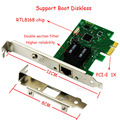 1000 Мбит/С Gigabit Ethernet PCI Express PCI-E NIC RTL8168 Сетевой Карты RJ-45 RJ45 LAN Адаптер Конвертер Сетевой Контроллер