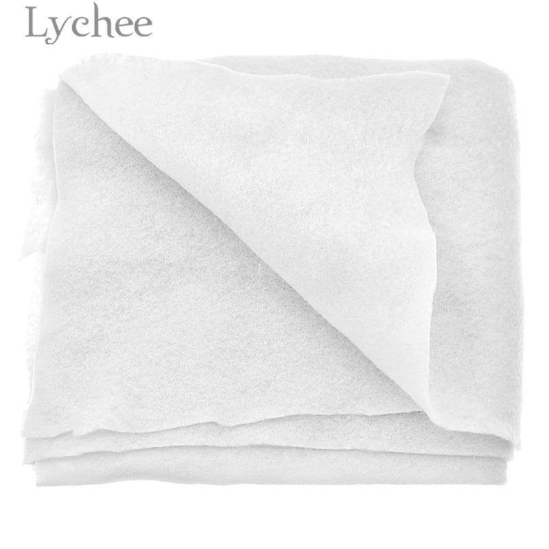 Lychee Life 1 м x 1 м белая хлопковая ткань стеганая подкладка высокое качество Прокладочные ткани материалы Аксессуары для шитья для гареток
