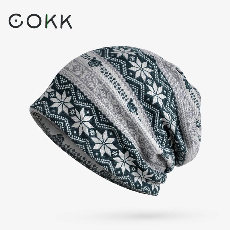 COKK Winter Bonnet Hats For Women Men Skullies Beanies Knitted Hat Female Caps Windproof Mask Bone Male Hat Outdoor Turban Hat