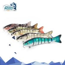 1 pcs Fishing Lure 13 cm 28.5g Eight segement Isca Synthetic Lure Swimbait Laborious Bait Fishing Lures Crankbait Fishing Accent