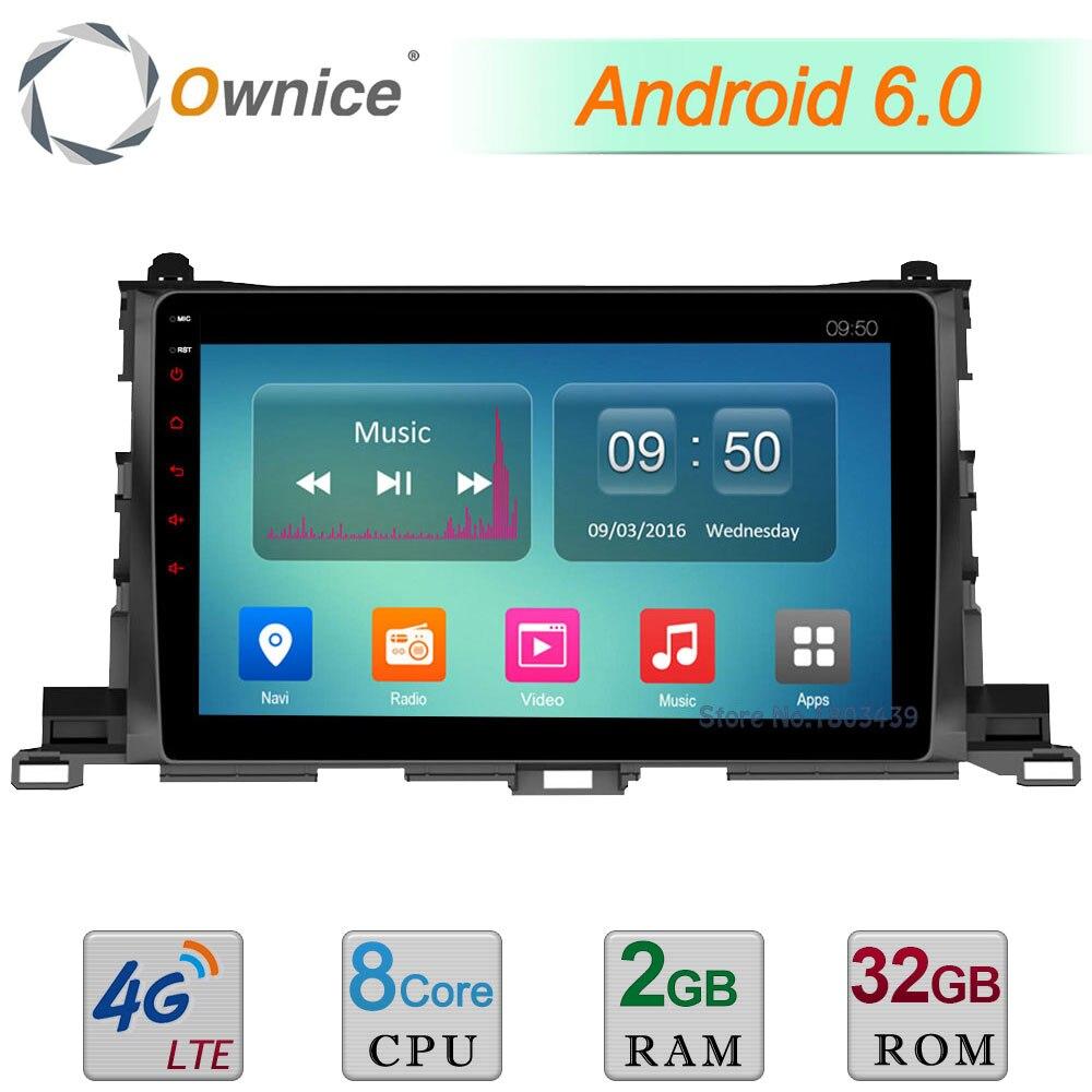 Octa Core 2GB RAM 32GB ROM C500+ 10.1 Android 6.0 4G WIFI DAB+ Car DVD Player Radio For Toyota Highlander 2015 GPS Navigation