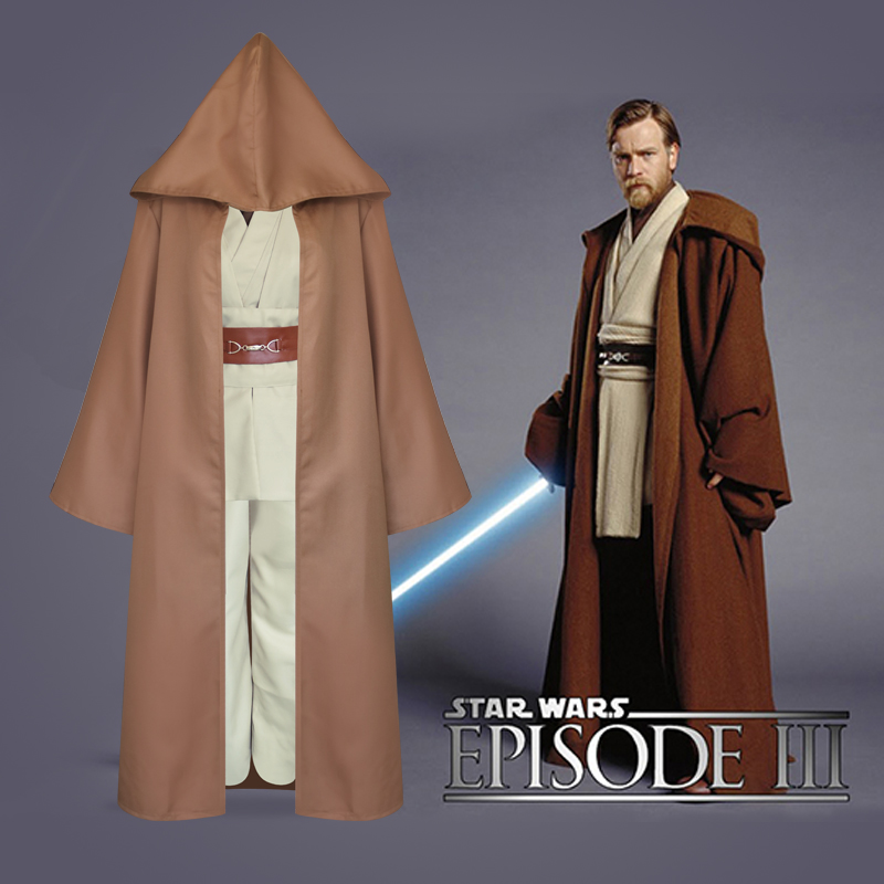 New Star Wars Jedi Knight Anakin Cosplay Costume Full Set with Cloak Adult Men Women Halloween Cosplay Costume