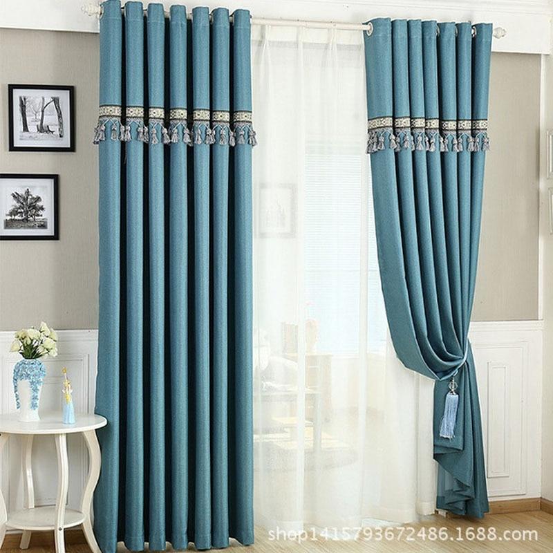 Estilo europeu de organza tule para cortinas para sala cortina para quarto janela cortina quarto - Estilo de cortinas ...
