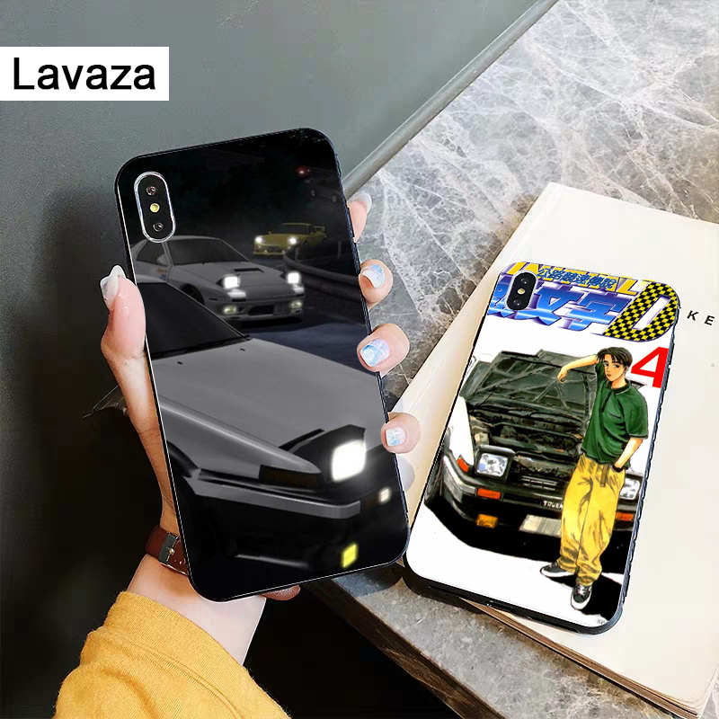 Lavaza AE86 Initial D Silicone Case for iPhone 5 5S 6 6S Plus 7 8 X XS Max XR in Fitted Cases from Cellphones Telecommunications