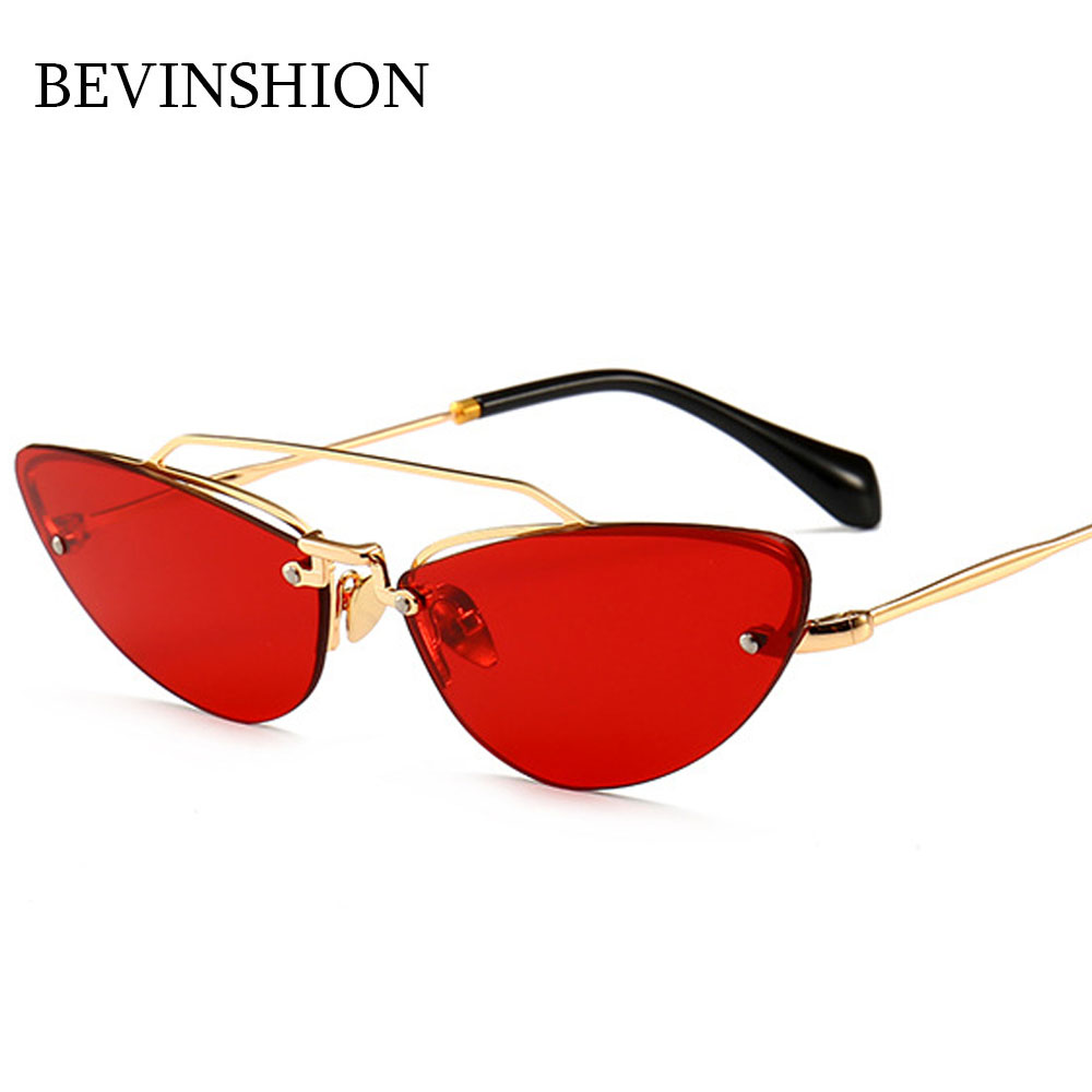 fcbcb07a5a3e Luxury New Arrival 2018 Modern Vintage Narrow Metal Frame Cat Eye Sunglasses  Women Sexy Retro Sun Glasses Female Sun Shade Party-in Sunglasses from  Apparel ...