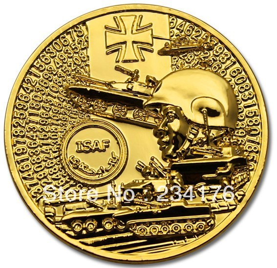 German Military Ksk Bundeswehr 24k Gold Plated Challenge Coin Ebay Hot