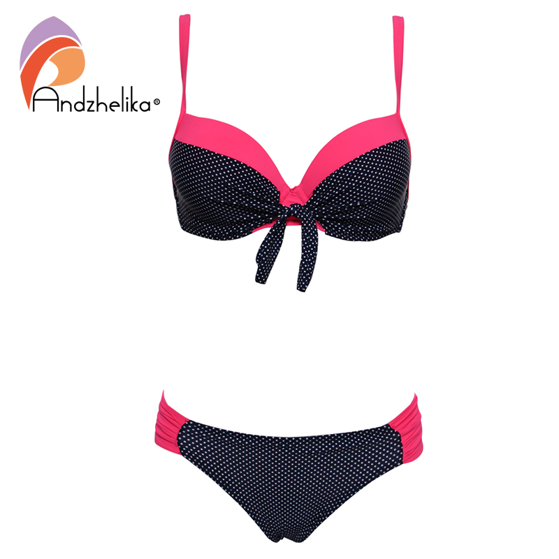 Andzhelika Women Swimsuit Sexy Bikini 2019 Bandage Dot Bikini Push Up Bikini Set Biquni Beach Wear Bathing Suit Female
