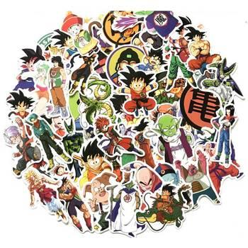 100Pcs/lot Anime Dragon Ball Stickers Super Saiyan Goku Sticker Decal For Skateboard Pad Phone Luggage Car Fridge Laptop
