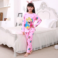 Hot Sale children's pajamas Casual Soft long sleeved Nightwear Autumn cartoon Kids sleepwear lovely Cotton Pyjamas for Girls